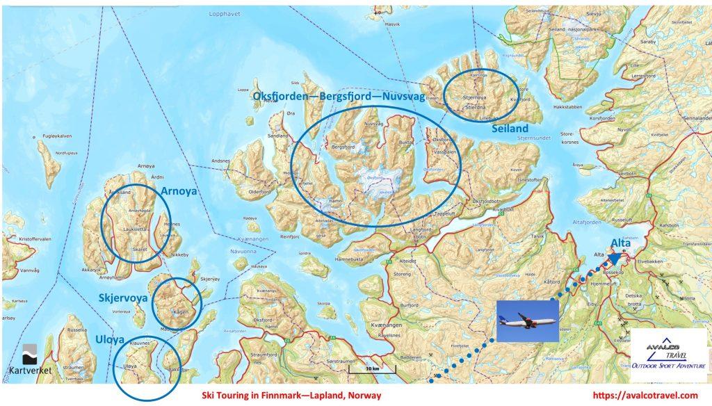 Finnmark-Lapland-skitouring-map